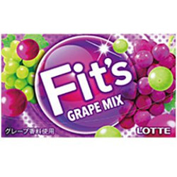 Lotte Fit's Grape Flavor 12 Sh...