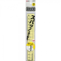 Kutsuwa Transparent Ruler Cuts...