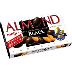 Meiji Almond Black Chocolate 8...