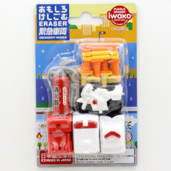 Iwako Emergency Vehicle Eraser
