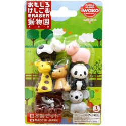 Iwako Zoo Animals Eraser