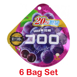 UHA Kororo Grape Gummy 48g 【6 ...